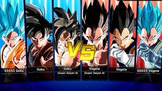 The Power Of Goku VS The Power Of Vegeta!! (Xenoverse: SSJ4 VS SSJGSSJ)