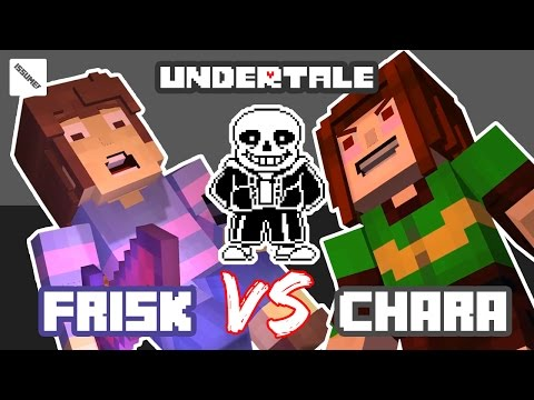 UNDERTALE FRISK vs CHARA! Minecraft Story Mode