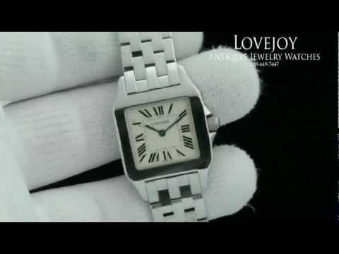 Cartier Santos Demoiselle Stainless Steel Ladies Watch Authentic 2701