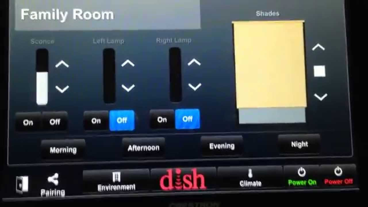 Dish Network window blinds remote control app
