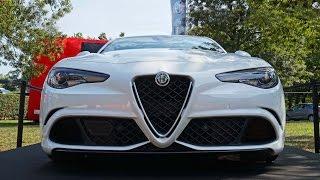 Alfa Romeo Giulia QV Quadrifoglio Verde 2015 - Walkaround Footage in Detail