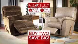 Two Great La-z-boy Recliners For One Low Price (4107)  | Www.mathisbrothers.com