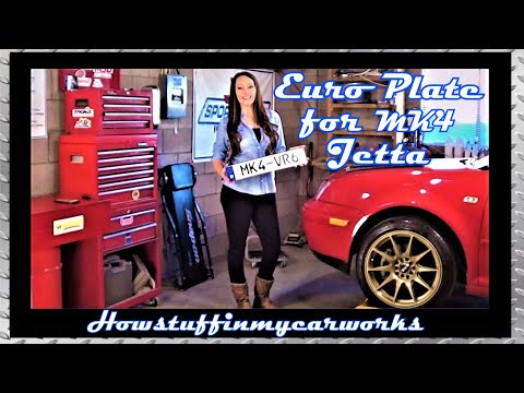 How To Install European License Plate On MK4 VW Jetta By Howstuffinmycarworks