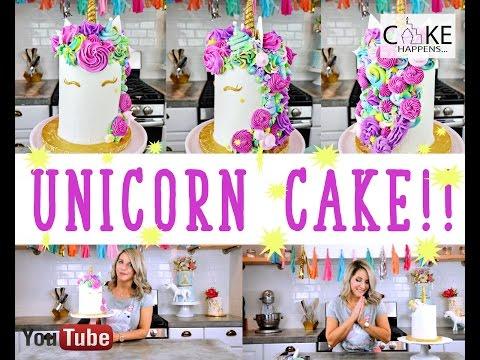 How to make a UNICORN CAKE!