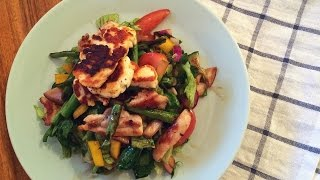 Chicken & Halloumi Summer Salad In 59 Seconds