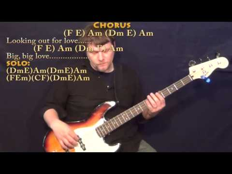 Big Love (Fleetwood Mac) Bass Guitar Cover Lesson in Am with Chords/Lyrics