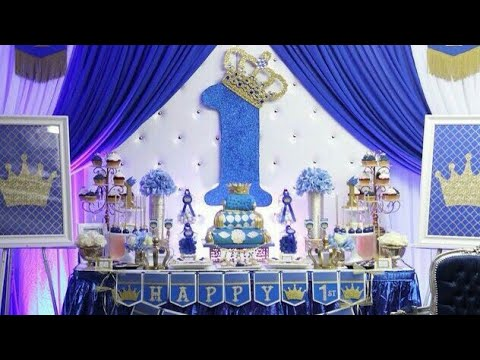 Fiesta De Príncipereyparty Birthday The Princeking Boy 2018mesa De Dulces Decoracion Ideas Niño