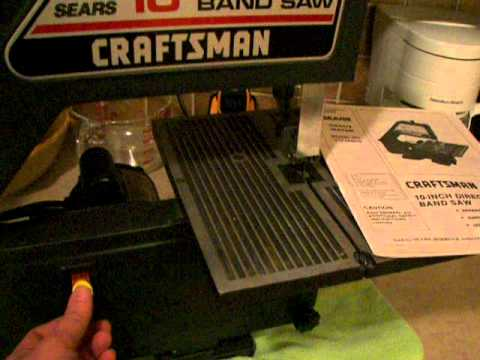 Craftsman 10in Band Saw Running Youtube