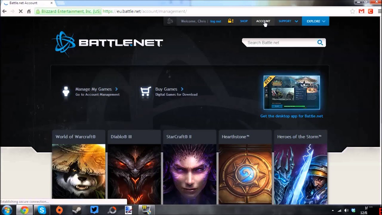 How to redeem a Battle net game code