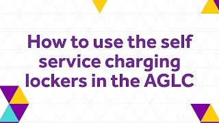 How to use the self service charging lockers in the AGLC - The University of Manchester Library