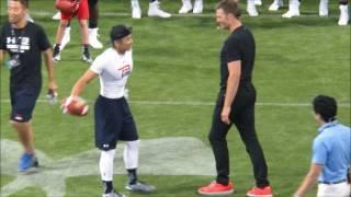 【Tom Brady】トム・ブレイディ選手とNFLに最も近い栗原嵩選手のデモンストレーション