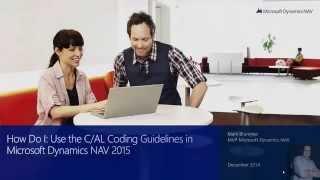 How Do I  Use the C AL Coding Guidelines in Microsoft Dynamics NAV 2015