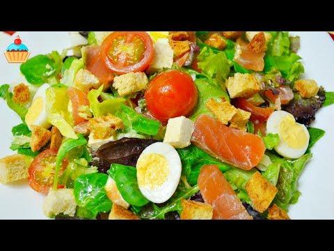 Слоёный салат с копченой