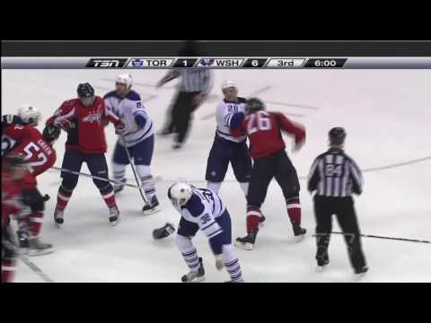 Colton Orr Cross Check on Mike Green - Jan 15th 2010 (HD)
