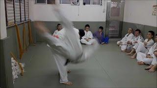 台北市和平柔道舘 - 浮腰、過肩摔、內腿 Uki-Goshi, Morote Seoi Nage Uchi Mata 2015-07-12