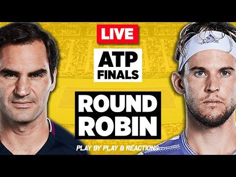 🔴 FEDERER Vs THIEM | ATP Finals London 2019 | LIVE Tennis Stream Play-by-Play