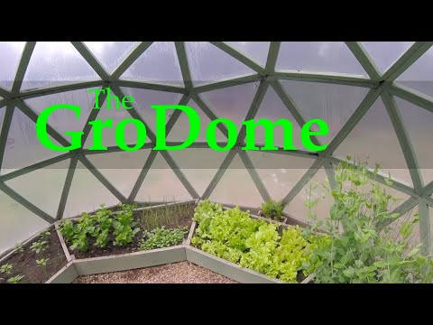 """DIY GREENHOUSE for Under $300 - """"GroDome"""" - built by an inventor Dr. Norman Petty"""