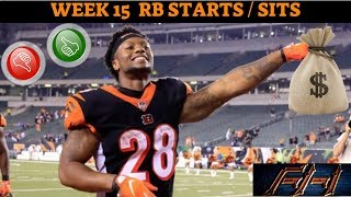2018 Fantasy Football Lineup Advice  - Week 15 RB\'s Start/Sit Episode