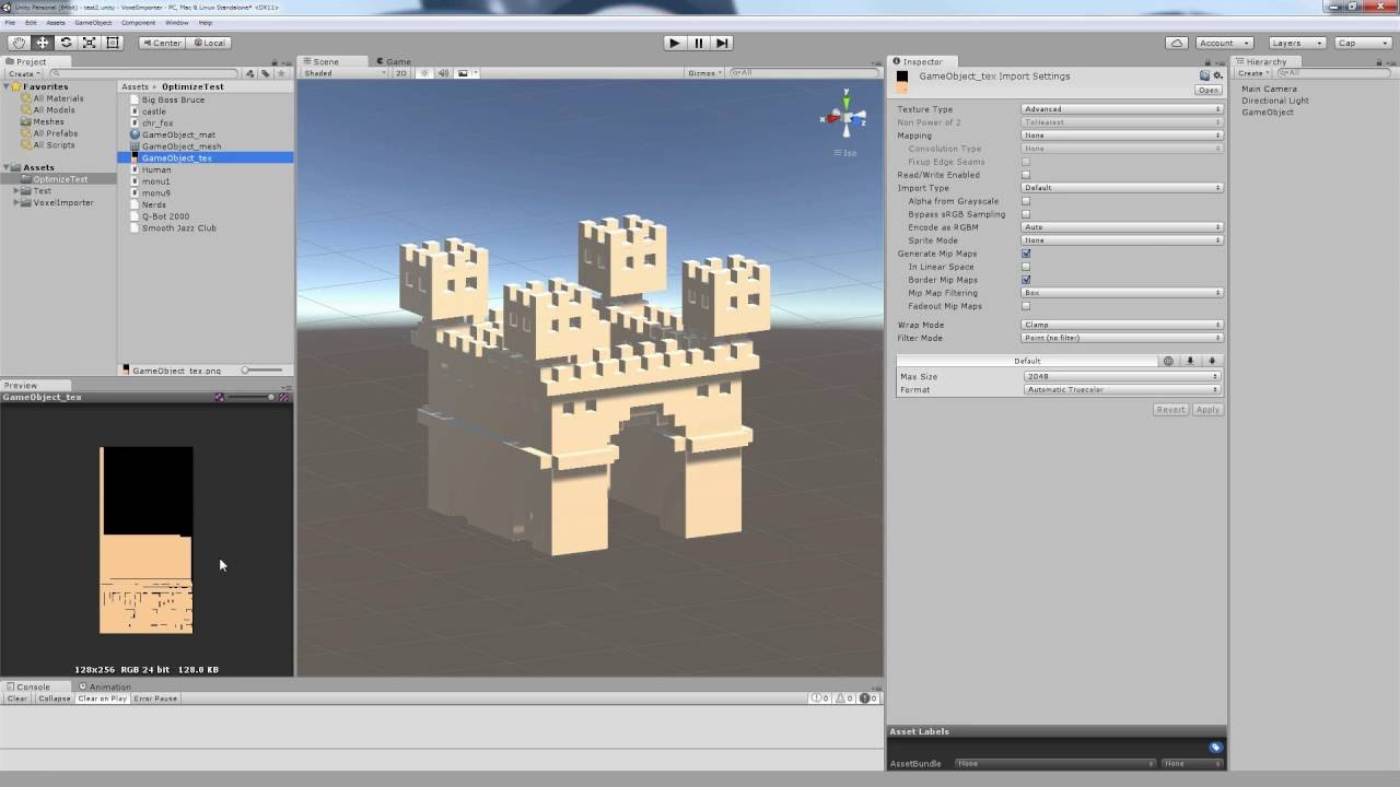 unity sample assets