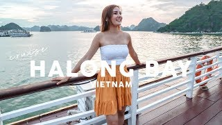 Overnight On a Junk Boat in BEAUTIFUL Halong Bay⎮ Vietnam Travel Vlog