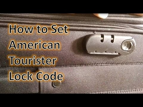 How To Set American Tourister Lock How To Reset The