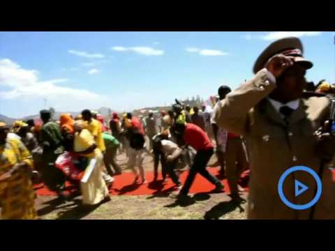 Chaotic scenes during president Uhuru's rally in Isiolo