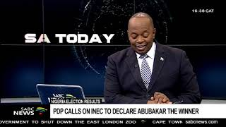 PDP declares Atiku Abubakar as winner of Nigeria's Presidential election