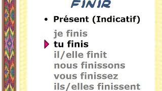 Verbe Finir Conjugaison Audio