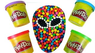Play Doh How To Make Dippin Dots Multicolor Candy Spiderman Mask