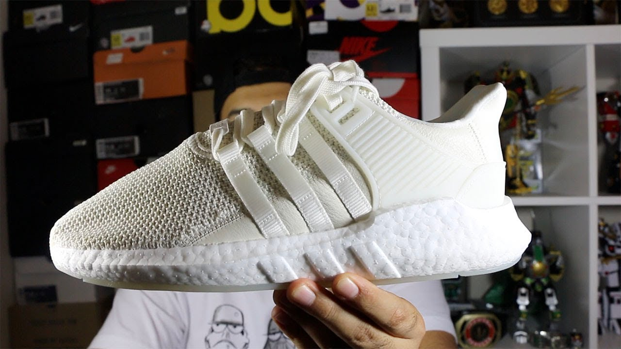 cheap for discount d66e8 ca1f9 Adidas EQT 93/17 Boost Off White Review!
