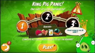 Beat The Daily Challenge King Pig Panic Completed in Angry Birds 2 SUNDAY  (2)