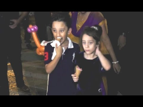 Sanjay Dutt Son And Daughter Shahraan Dutt And Iqra Dutt At Aaradhya  Birthday Party 2017