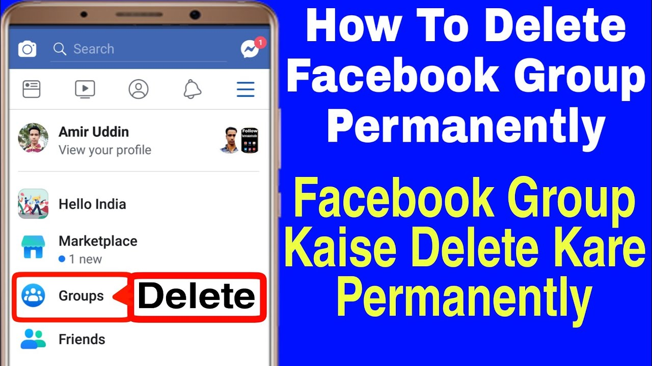 How To Delete Facebook Groups Permanently | Facebook Group Kaise Delete  Karen Permanently in (Hindi)