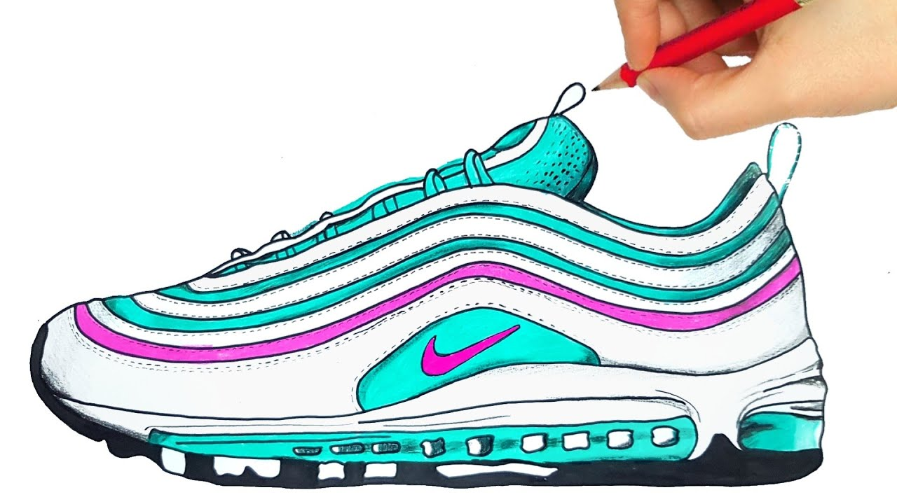 HOW TO DRAW NIKE AIR MAX 97 HOW TO DRAW