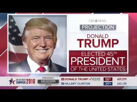 Every Network that Announce Donald Trump WINS Election 2016 Compilation Video