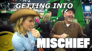 Farm Girl Causing Trouble at the National Farm Machinery Show 2019 PLUS Championship Tractor Pull