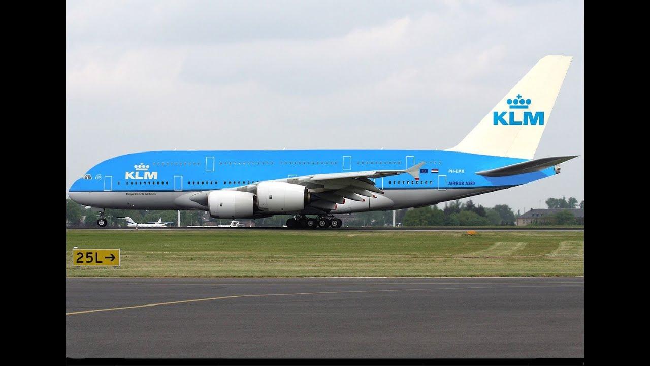Klm A380 Landing Youtube