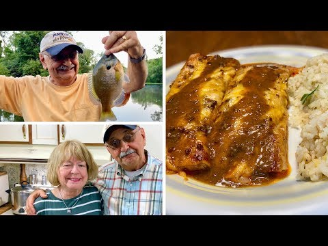 About Bluegill, Enchiladas And Chile Sauce (here The Sauce Is The Boss)