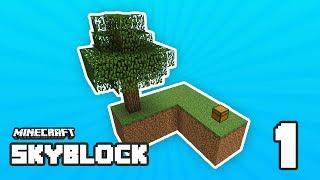 SKYBLOCK #1 - BRAND NEW ISLAND w/ImaFlyNMidget (Minecraft SkyBlock)