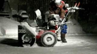 noma canadiana snowblower with a honda gx240 motor retrofit