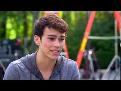 "Crisis: Max Schneider ""Ian Martinez"" On Set TV Interview"
