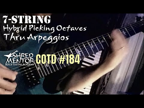 7-String Hybrid Picking Octaves in Arpeggios | ShredMentor Challenge of the Day #184