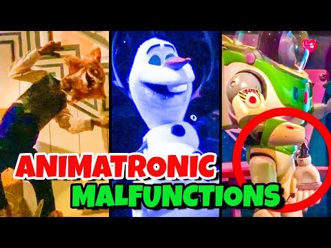 Top 10 Disney Fails & Animatronic Malfunctions Pt 9