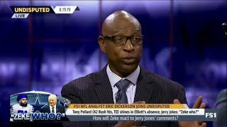 UNDISPUTED | Eric Dickerson heated debate: How will Zeke react to Jerry Jones' comments?