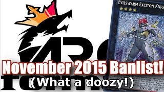 November 2015 TCG Forbidden & Limited List IN DEPTH Discussion! [ARG]