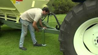 Marshall Multispread: Attaching to Spreader (Hydraulic Spinner Drive) (900 series)