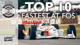 Top 10 fastest cars at Festival of Speed 2019