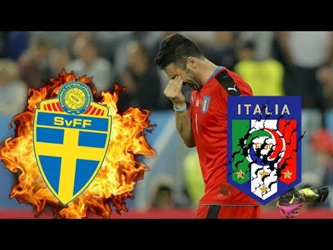 ITALY DOES NOT QUALIFY FOR THE 2018 FIFA WORLD CUP | Italy Vs Sweden 0-1 Agg