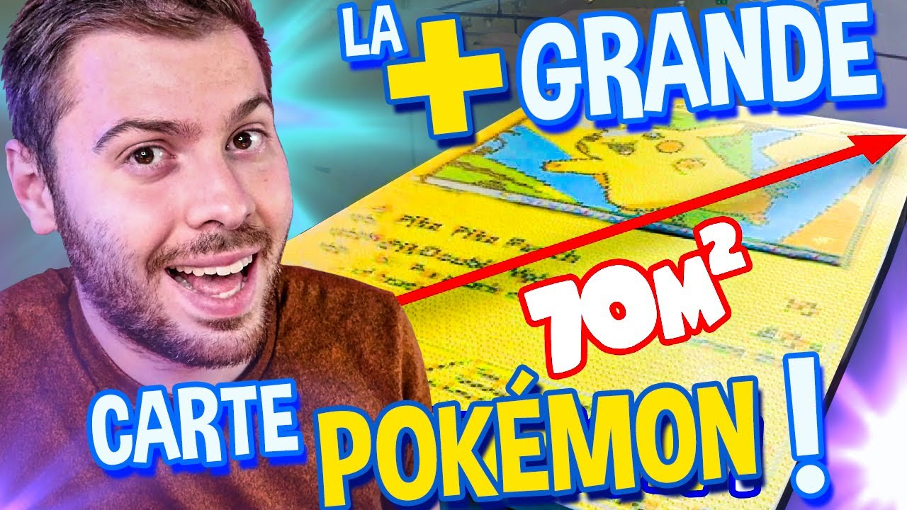 La plus grande carte pokemon du monde 13 000 cartes - La plus forte carte pokemon du monde ...