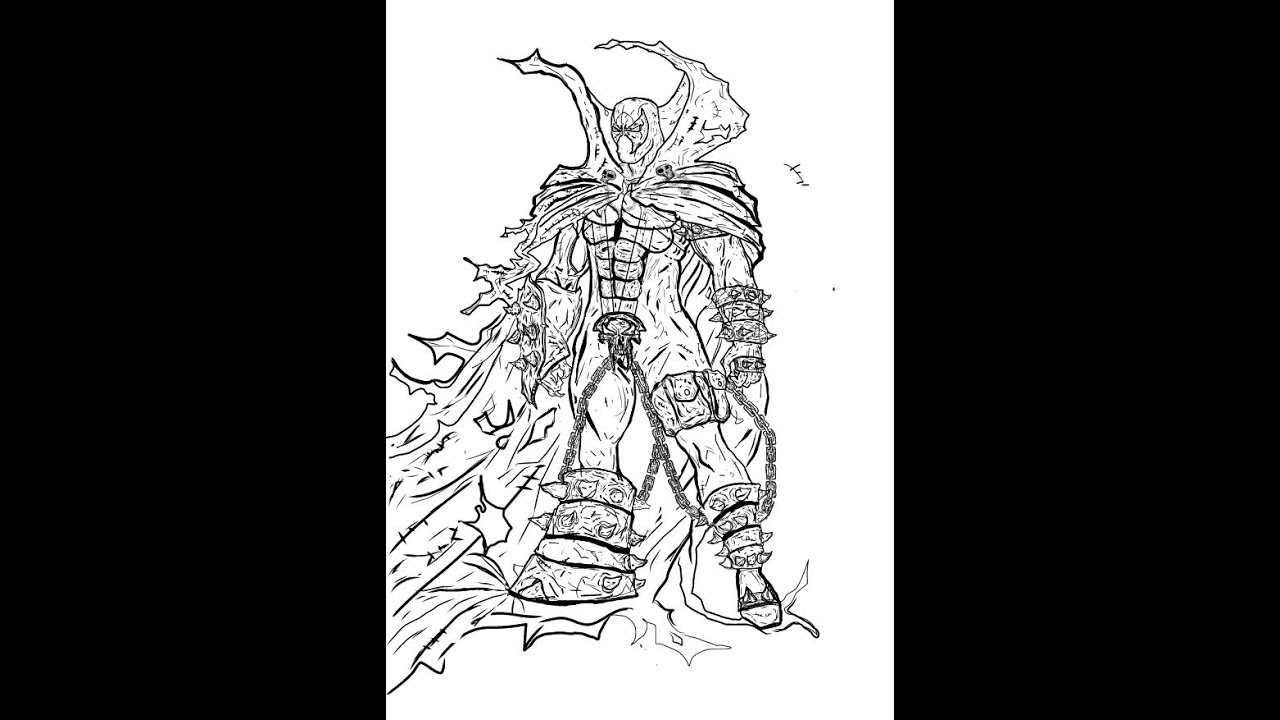How to Draw Spawn part1 - YouTube | 1280 x 720 jpeg 109kB